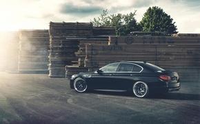Картинка BMW, БМВ, Диски, Black, 5 series, f10, Tuning