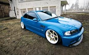 Картинка бмв, BMW, blue, tuning, E46