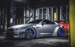 Обои Car, LB Perfomance, Spoiler, Liberty Walk, Nissan, Front, Wheels, Tuning, GT-R