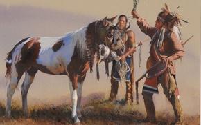 Картинка картина, живопись, painting, John Fawcett, Blessing The Young Pony
