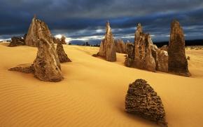 Картинка природа, скалы, пустыня, Australia, Nambung Desert
