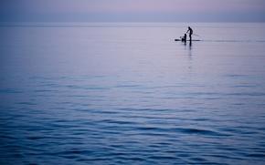 Картинка море, ночь, люди