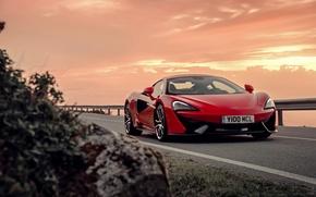 Картинка McLaren, вечер, 570S, суперкар, макларен, закат
