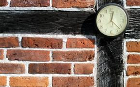 Картинка стена, часы, сток