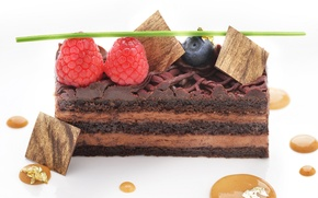 Картинка ягоды, малина, торт, пирожное, карамель, голубика