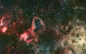 Обои бесконечность, скопления, вечность, галактики, световые года, неизвестность, черная материя, вселенная, безмятежность, миры, звезды