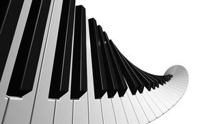 Обои piano музыка, белый, чёрный, клавиши