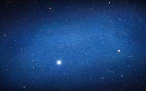 Картинка космос, звезды, огни