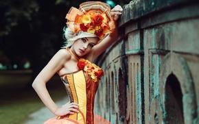 Картинка девушка, макияж, Corset girl