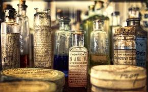 Картинка аптека, музей, винтаж, склянки