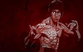 Картинка typography, Bruce Lee, Be Water, Типографика, Брюс Ли, Nautilus D
