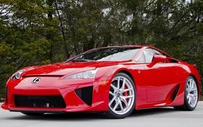 Картинка красный, Lexus, lfa