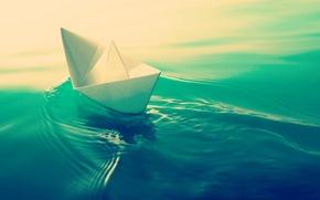 Картинка вода, фон, обои, настроения, лодка, wallpaper, судно, широкоформатные, background, полноэкранные, HD wallpapers, лодочка, широкоэкранные, бумажный …