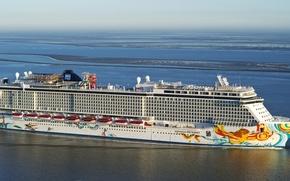 Картинка фото, Море, Корабль, Круизный лайнер