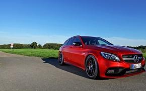 Картинка Wimmer, красный, S205, Mercedes-Benz, C-Class, мерседес, AMG