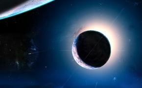 Обои звезды, свет, планета, 154