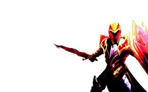 Картинка минимализм, рыцарь, minimalism, Valve, games, Dota, Дота, Dragon Knight