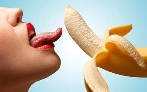 Обои ЧИК, кушает, tongue, gorgeous, licking, губы, язык, красивАЯ, ГОЛубОЙ, вкусная, белые, удовольствие, delicious, вид, аккуратный, ...