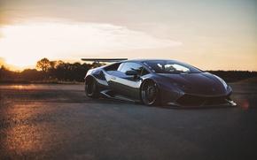Обои тюнинг, Lamborghini, Huracan, свет