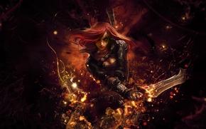 Картинка игра, аниме, арт, league of legends, katarina