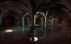 Картинка underwater, ancient, crypt, moody