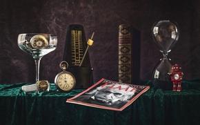 Картинка время, часы, текстура, книга, натюрморт, журнал, Эйнштейн, хронометр