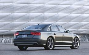 Картинка Audi, Вечер, Авто, Ауди, Машина, Серый, Седан, TFSI