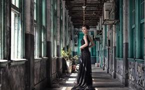 Картинка стиль, модель, платье, азиатка