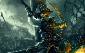 Картинка рисунок, череп, Пират