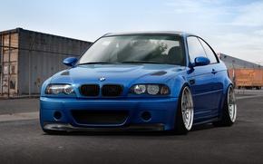 Картинка синий, бмв, BMW, контейнер, blue, E46