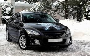 Обои снег, Mazda 6, Batman