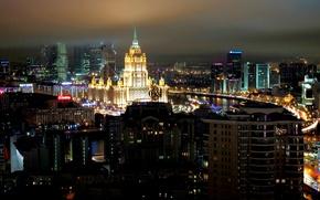 Картинка ночь, Москва, Россия, Russia, night, Moscow