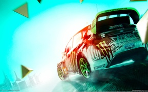 Обои ford, colin mcrae, fiesta, dirt 3, monster energy