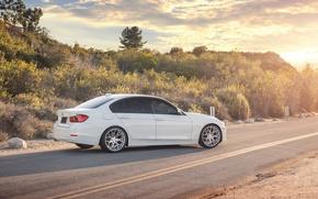 Картинка BMW, white, 328i, F30, Sedan, 3 Series