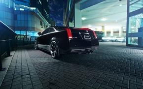 Картинка чёрный, Cadillac, black, CTS-V, кадилак