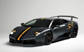 Картинка черный, мощь, Lamborghini Murcielago LP 670-4 SuperVeloce