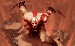 Картинка Воин, Sony, Kratos, Кратос, God Of War, Спартанец