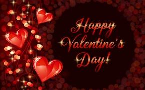 Картинка любовь, сердечки, golden, love, валентинка, romantic, hearts, Valentine's Day, luxury, Happy, gradient