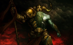 Картинка armor, art, helmet, barbarian