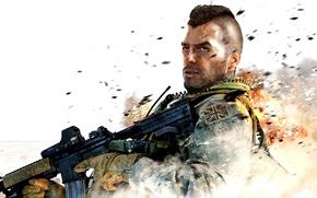 Картинка modern warfare 2, game, call of duty, винтовка, soldier, морпех, соул