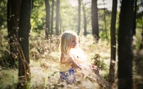 Картинка лето, свет, девочка