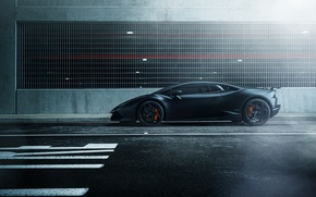 Обои street, Lamborghini Huracan, black, hq wallpaper, car, William Stern