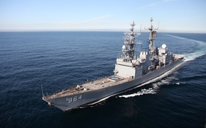 Картинка Tomahawk, destroyer, Spruance-class destroyer, US Navy, Mark 36 SRBOC, ASROC, 54 calibre Mark 45 dual …