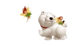 Картинка настроение, арт, мишка, белый мишка, детская, феечка