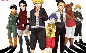 Обои Haruno, Naruto, ANBU, oriental, asiatic, genin, ninjaken, asian, shinobi, Uchiha, Boruto, katana, kuwaii, Uchiha Sarada, ...