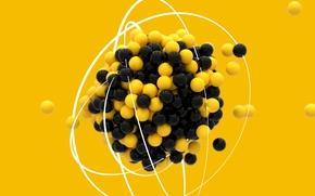 Картинка шарики, молекула