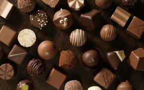 Обои белый, шоколад, конфеты, Чёрный, сладкое, chocolate, candy, молочный