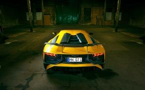 Картинка выхлопы, Lamborghini, ламборгини, вид сзади, Aventador, Novitec, Torado, задок, LP 750-4, Superveloce, спойлер, тюнинг, авто