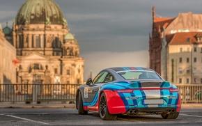 Картинка город, Porsche 911, Carrera 4S