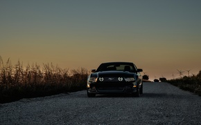 Картинка mustang, мустанг, ford, black, форд чёрный, ветрогенераторы